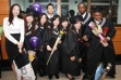 Some of my classmates and I at a graduation ceremony our college especially organised.